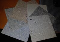 Standard Natural stone range swatch 7 plain colours
