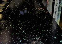 Black epoxy Hex Hieroglyphic Glitter